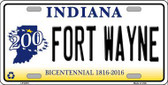Fort Wayne Indiana Novelty Metal License Plate