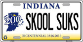 Skook Suks Indiana Novelty Metal License Plate