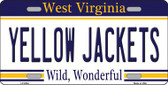 Yellow Jackets West Virginia Novelty Metal License Plate