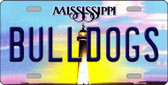 Bulldogs Mississippi Novelty Metal License Plate
