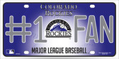 Rockies Fan Metal Novelty License Plate