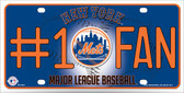 Mets Fan Metal Novelty License Plate