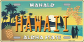 Hawaii Pineapple Background Novelty Metal License Plate
