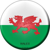 Wales Country Novelty Metal Circular Sign