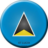 St Lucia Country Novelty Metal Circular Sign