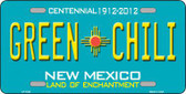 Green Chili New Mexico Metal Novelty License Plate