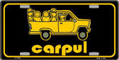 Carpul Metal Novelty License Plate