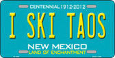 I Ski Taos New Mexico Novelty Metal License Plate