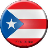 Puerto Rico Country Novelty Metal Circular Sign