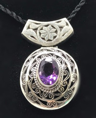 AMETHYST ROYAL FLOWER PENDANT