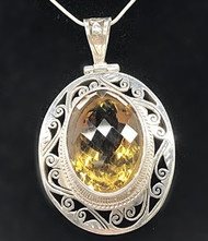 CHEERFUL CITRINE LUXURY PENDANT