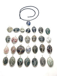 High End Wire Wrapped Tree Pendants