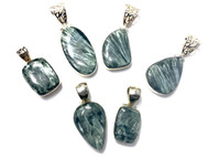 Seraphinite CONDUCTIVE Silver Pendants