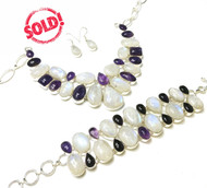 Amethyst & Moonstone FANCY GEMSTONE SETS- THERAPY JEWELRY *SOLD OUT*