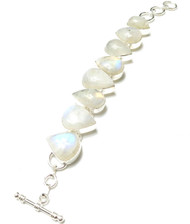 Curvy Moonstone CONDUCTIVE Silver Bracelet *SOLD OUT*
