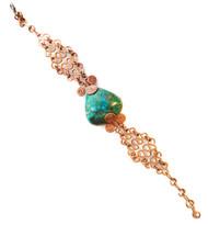 Peruvian Turquoise Copper Bracelet