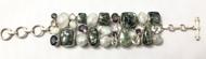 Seraphinite, Moonstone, Mystic Topaz & Quartz CONDUCTIVE SILVER Bracelet