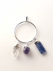 Clear Quartz, Amethyst & Blue Kyanite Vibrational Therapy Pendant