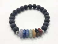 Chakra Lava Bead Oil Diffuser Bracelet