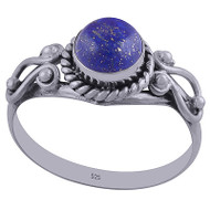 Lapis Heart Petals Ring