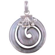 Classy Fibonocci Sterling Silver Pendant