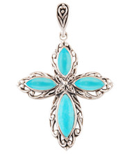 4 CORNERS of EARTH Turquoise Pendant