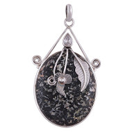 Crinoid Fossil Sterling Silver Pendant