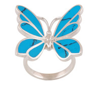 Turquoise Transformation Butterfly Ring Size 9
