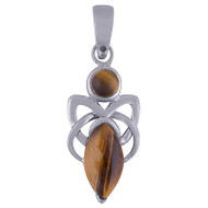 Tigers Eye Goddess Pendant