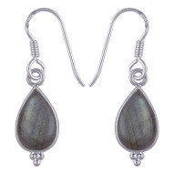 Nature Infused Cabochon Stone Earrings
