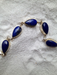 Lapis Teardrop All-in-One Bracelet