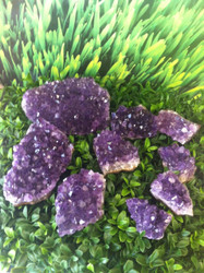 Amplified Amethyst Clusters