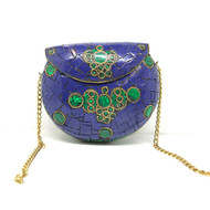 Malachite and Lapis Purse