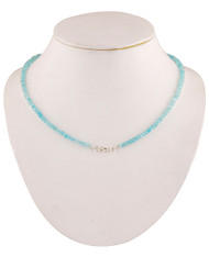 Aquamarine Sparkle Faceted Single strand