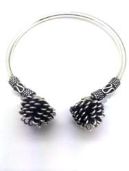 Sterling Silver Pine Cone Bracelet