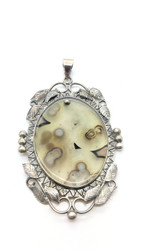Path into the Universe - Ocean Jasper Fairy Mirror Pendant