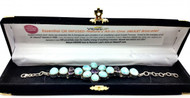 Larimar and Amethyst Petals Bracelet