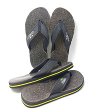 2 for 1 DOUBLE THICK Real Earth Vibrational Therapy Flip Flops