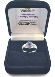 Amethyst Heart Petals Ring