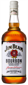 Jim Beam White Label 1lt bottle