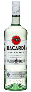 Bacardi White Rum 1 Litre Bottle