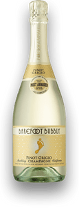 Barefoot California Bubbly Pinot Grigio 750ml