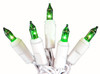 Set of 20 Battery Operated Green Mini Christmas Lights - White Wire - 23121253