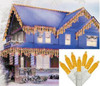 Set of 70 Yellow Gold LED M5 Icicle Christmas Lights - White Wire - 31303653