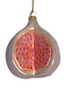 "Sugared Fruit Decorative Exotic Glitter Pomegranate Glass Christmas Ornament 3"" - 11213473"