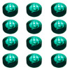 Club Pack of 12 Battery Operated LED Teal Waterproof Tea Lights - 30851571