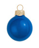 "6ct Pearl Cobalt Blue Glass Ball Christmas Ornaments 4"" (100mm) - 30939847"