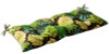 Outdoor Patio Furniture Tufted Bench Loveseat Cushion - Green Tropical - 13928772