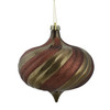 "4ct Shiny Mocha Brown Glitter Swirl Shatterproof Onion Christmas Ornaments 5.75"" - 30861546"