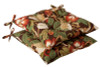 Pack of 2 Outdoor Patio Furniture Tufted Chair Seat Cushions - Floral Cafe - 13929418